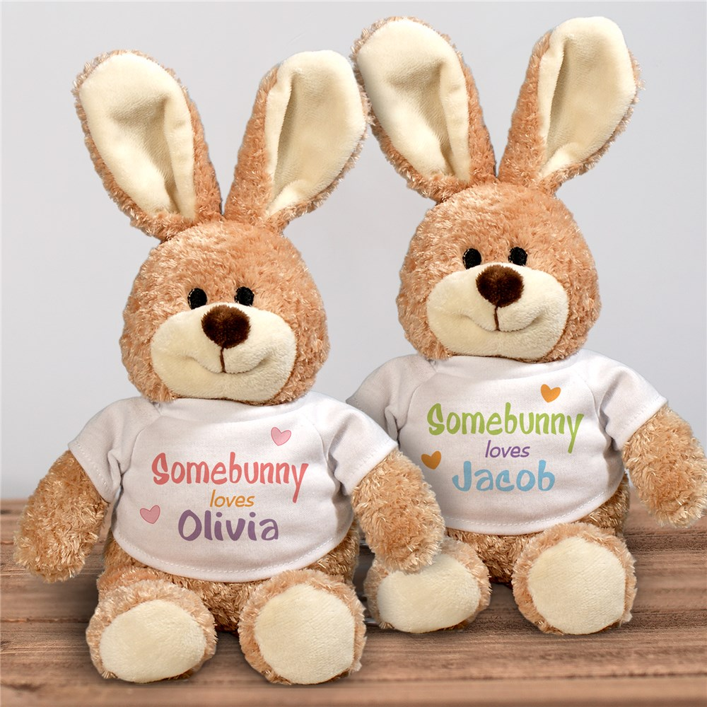 Personalized Somebunny Loves Me Easter Bunny | Personalized Easter Bunnies