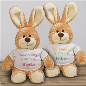 Somebunny Loves Personalized Easter Bunny |Easter Bunny Stuffed Animals