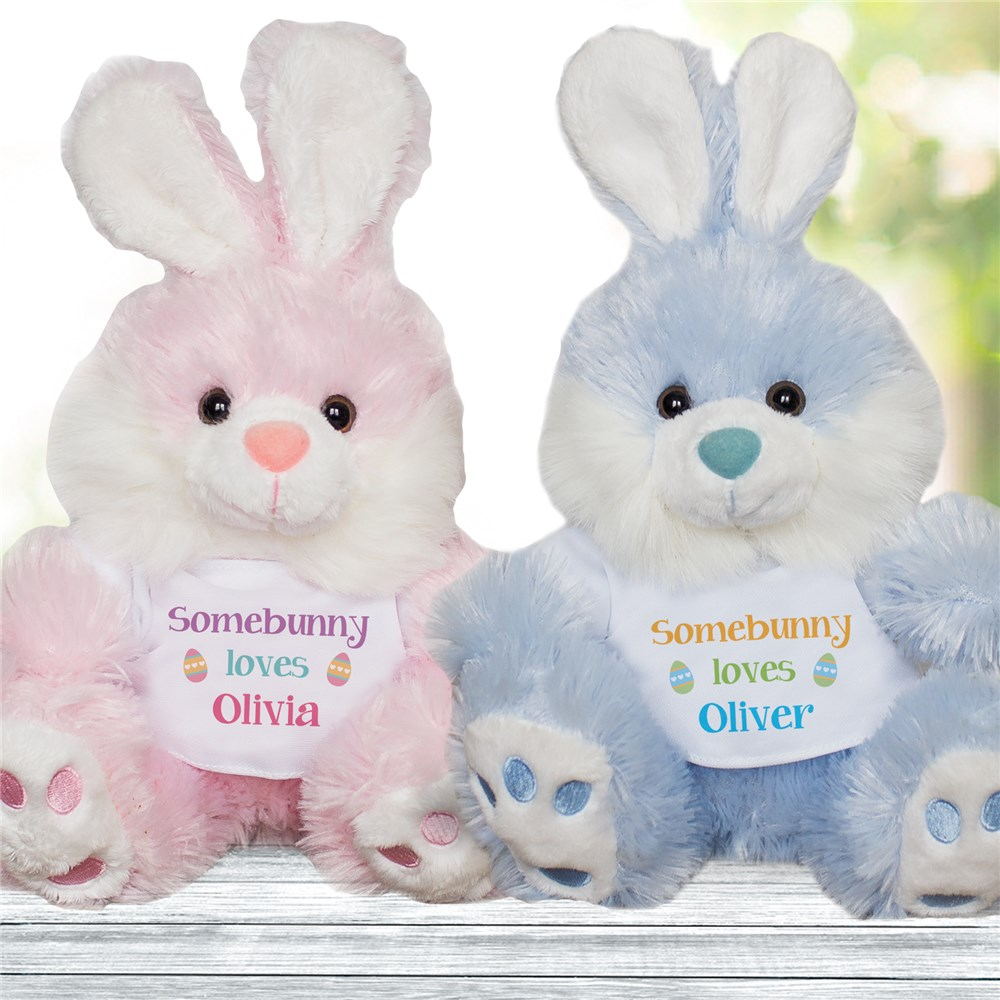 Somebunny Loves Personalized Easter Bunny | Personalized Easter Bunny Stuffed Animals