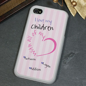 Personalized With All My Heart iPhone 4 Case