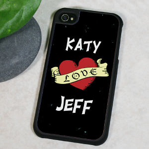 Personalized Love Banner iPhone 4 Case