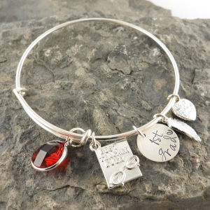 Personalized Teacher Bracelet DKBWBSPT
