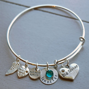 Personalized Big Sister Bracelet | Personalized Sister Gifts