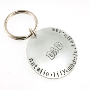 Personalized Dad Key Chain