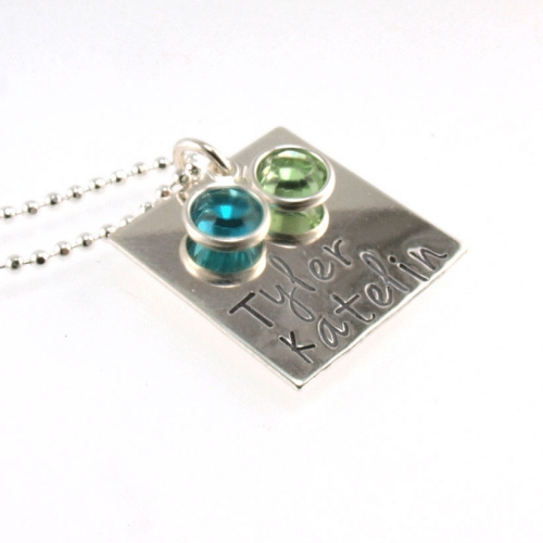 Sterling Silver Birthstone Necklace | Personalized Jewelry