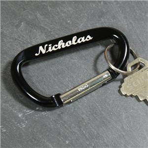 Personalized Carabiner Key Chain | Personalized Dad Accessories