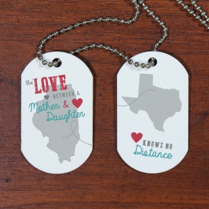 Personalized Long Distance Dog Tags