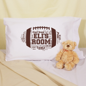 Football Word-Art Pillowcase