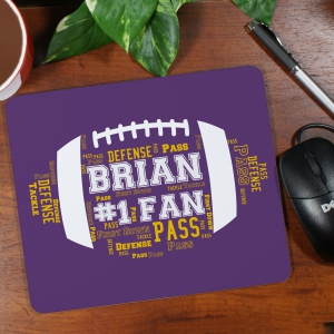 Football Word-Art Mouse Pad