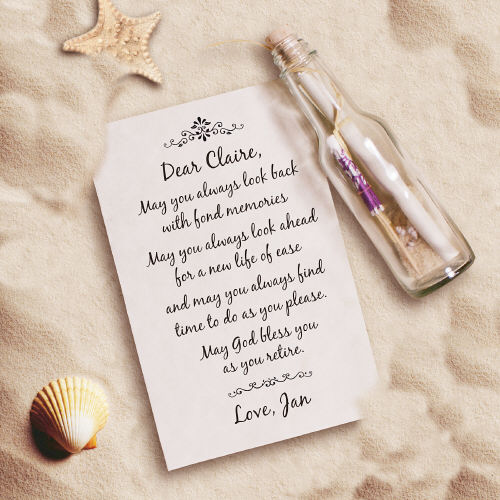 As You Retire... Retirement Message In A Bottle