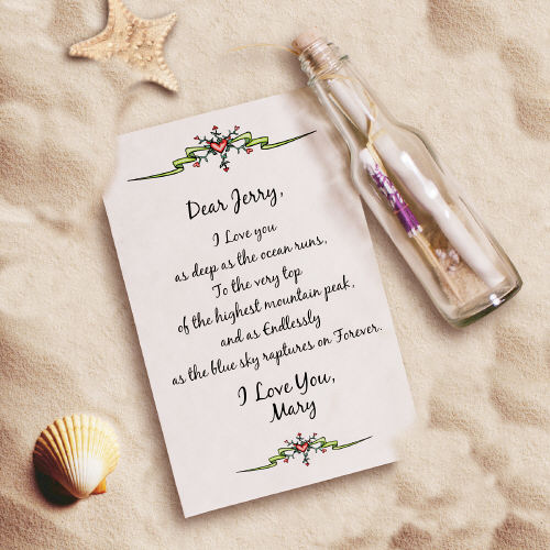 Endless Love... Message In A Bottle | Valentine Keepsake Gifts