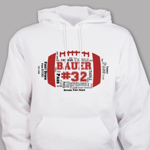 Football Word-Art Hooded Sweatshirt