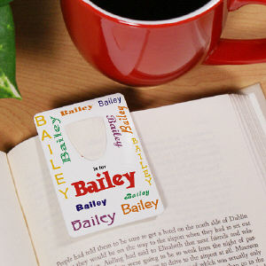Personalized Name Bookmark - A is for...Design