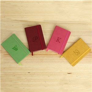 Personalized Initial Leatherette Journal | Engraved Journals