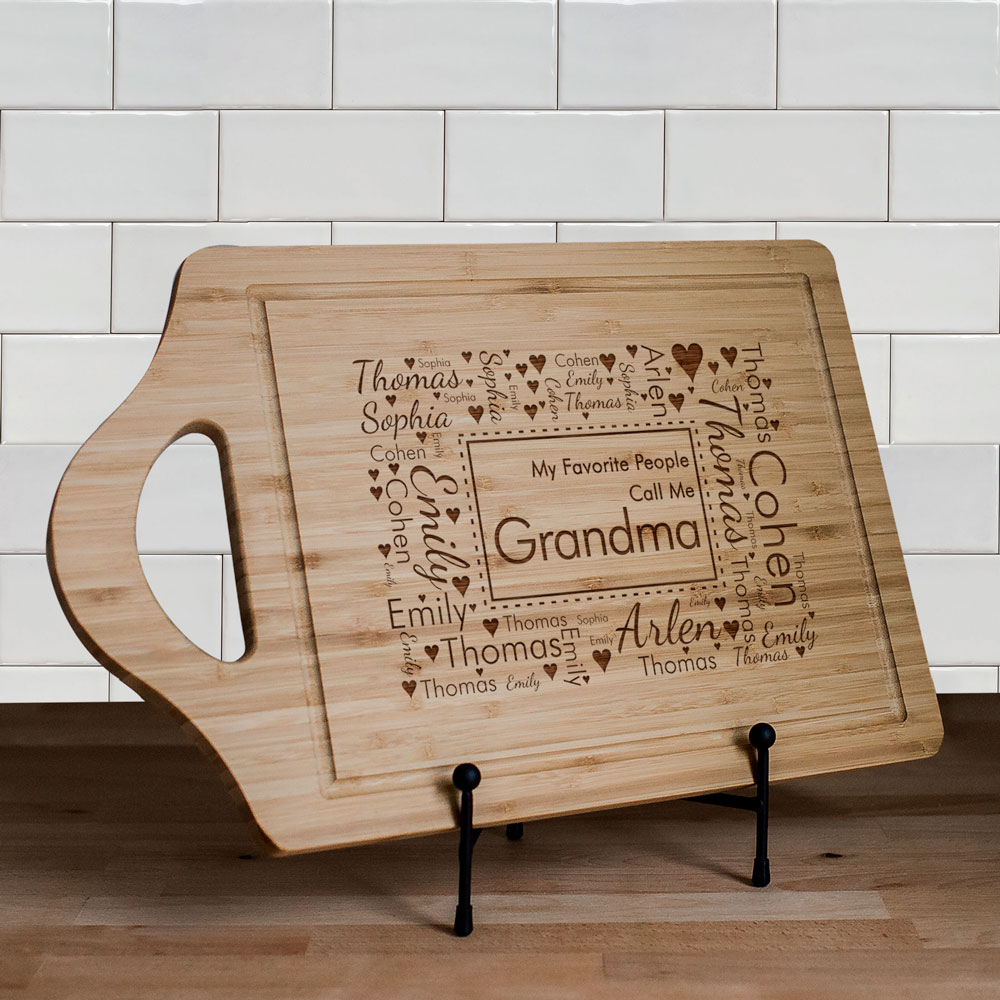Established Bamboo Cheese Carving Board | Personalized Gifts for Grandma