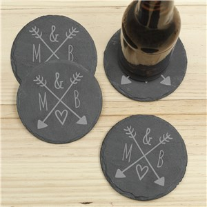 Initials Slate Coasters | Personalized Coasters