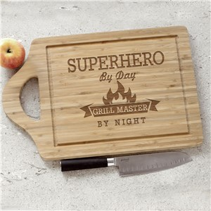 Engraved Grill Master Cutting Board | Father's Day BBQ Gifts