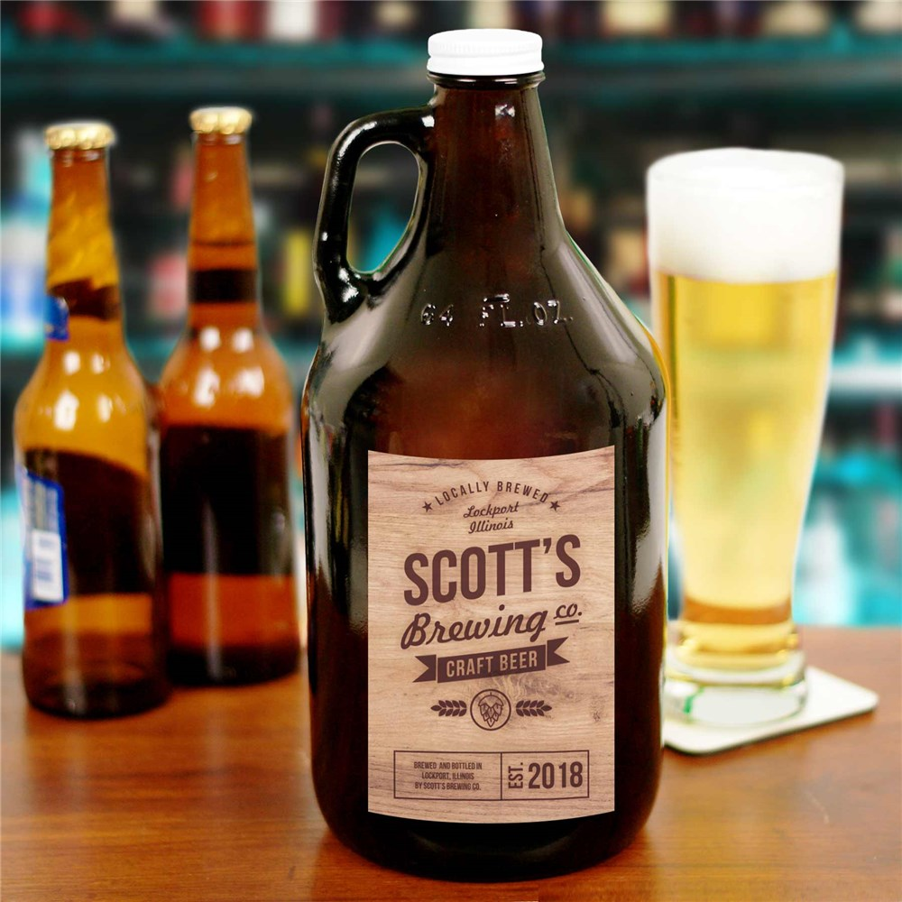 Personalized Craft Beer Brewing Co. Growler | Personalized Father's Day Gifts
