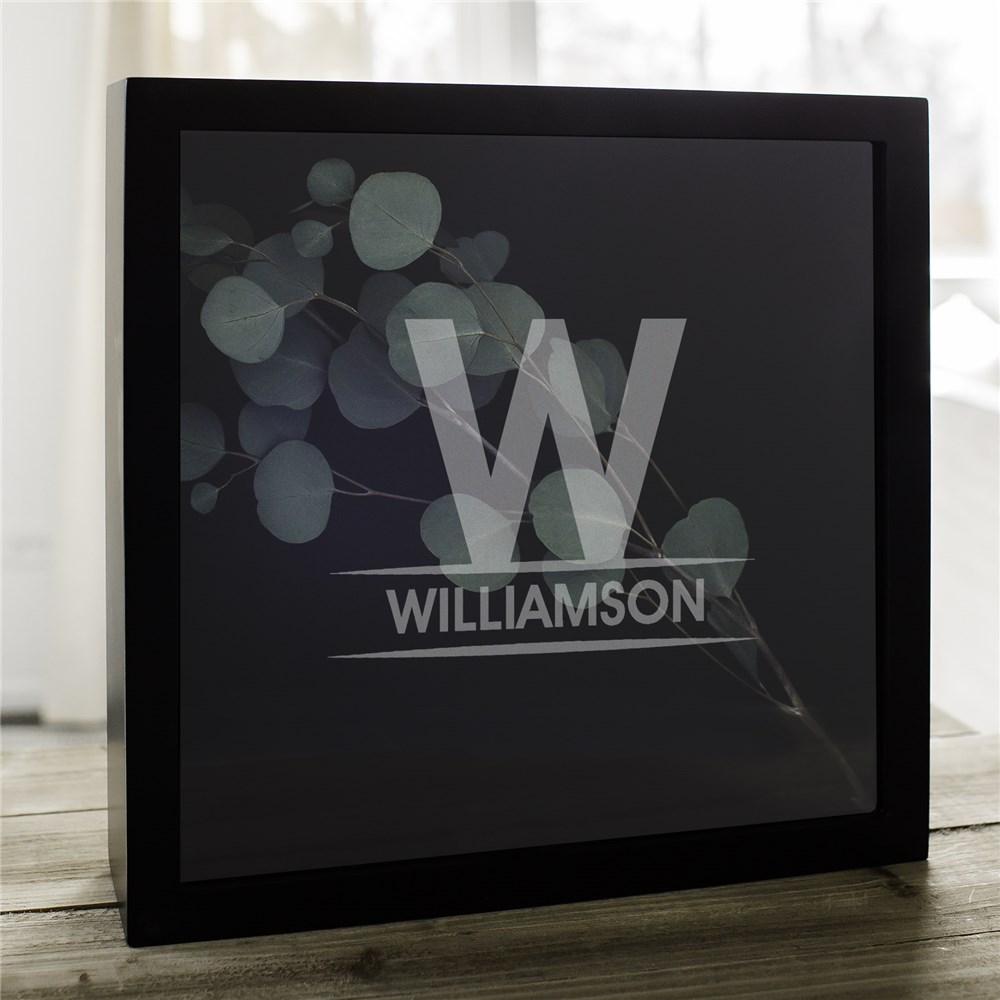 Personalized Family Name Shadow Box | Father's Day Gifts