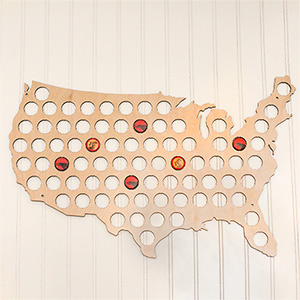 Wood Beer Cap Trap Map