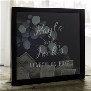 Engraved Honeymoon Fund Shadow Box L10415146