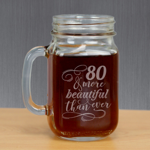 Engraved More Beautiful Mason Jar L1051271