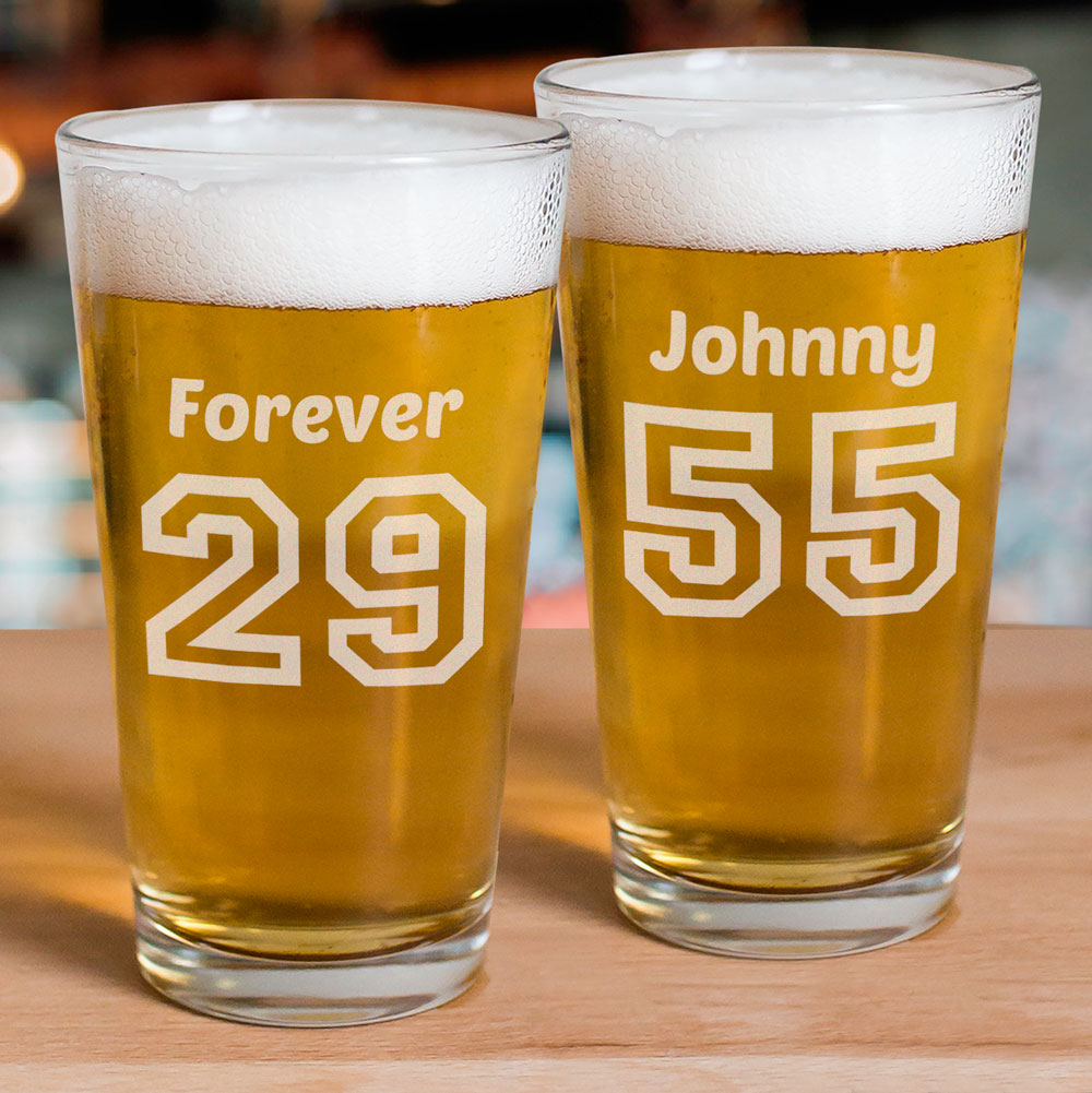 Engraved Birthday Glass | Personalized Gifts for Him