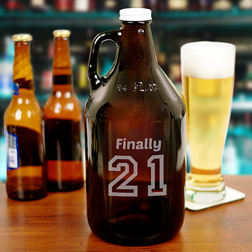Engraved Birthday Message Growler | Personalized Gifts for Him