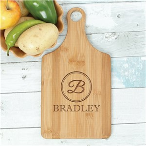 Engraved Initial Paddle Cutting Board | Personalized Cutting Boards