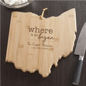 Engraved Where It All Began Ohio State Cutting Board | Personalized Cutting Boards