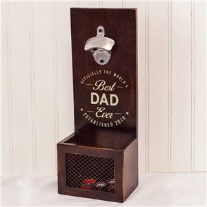 Engraved Best Ever Wall Bottle Opener | Bar Gifts for Dad