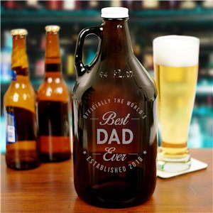 Engraved Best Ever Beer Growler | Father's Day Gifts