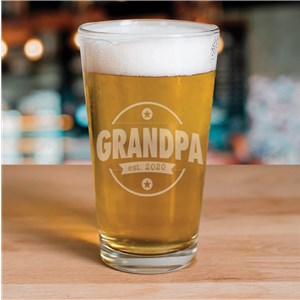 Engraved New Dad Beer Glass | Engraved Pint Glass