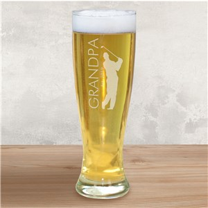 Engraved Golfer Glass Pilsner | Father's Day Gift