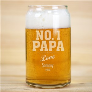 aveEngrd No. 1 Dad Beer Can Glass | Personalized Barware Gifts For Dad