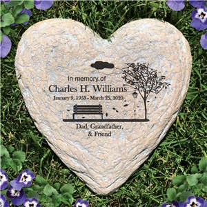 Personalized Empty Bench Memorial Garden Stone | Personalized Memorial Stones