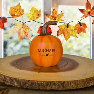 Personalized Happy Fall Y'all Small Pumpkin | Personalized Pumpkins