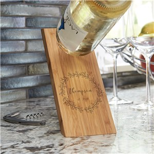 Wooden Wine Bottle Holder | Balancing Wine Bottle Holder