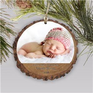 Baby's First Christmas Photo Ornament | Personalized Baby's First Christmas Ornaments