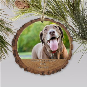 Personalized Furever In Our Hearts Ornament | Dog Memorial Ornaments