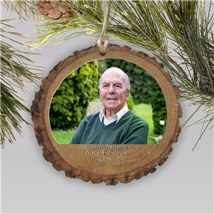 Personalized Memorial Photo Ornament | Personalized Memorial Ornaments