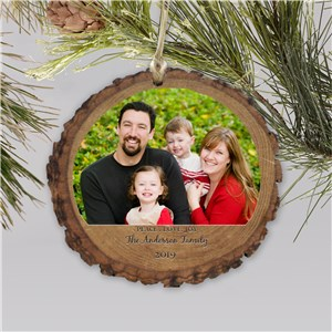 Personalized Peace Love Joy Photo Ornament | Photo Ornaments