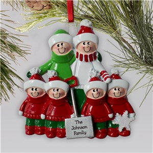 Engraved Shovel Family Ornament | Personalized Family Christmas Ornaments