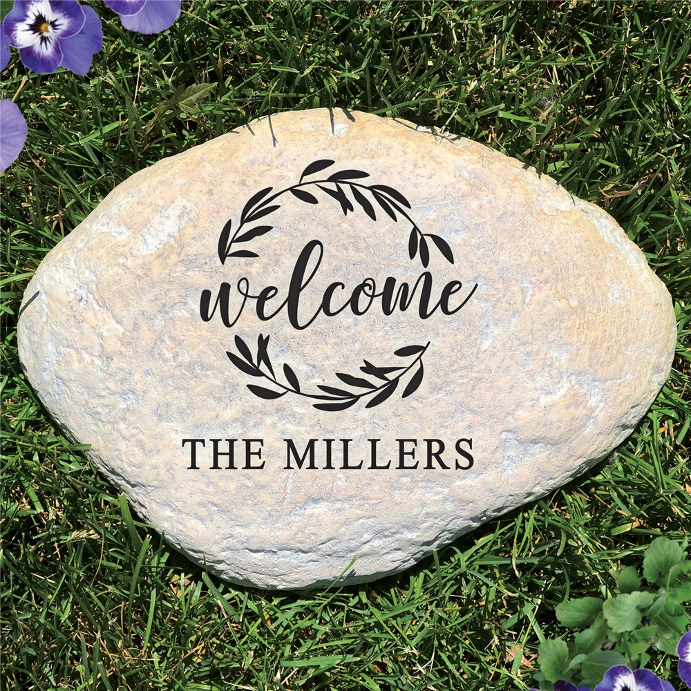 Outdoor Welcome Garden Stones | Personalized Garden Stones