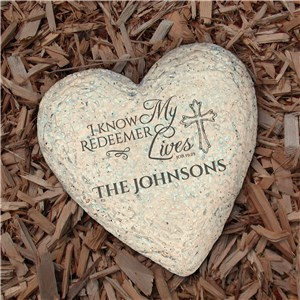 Heart Shaped Yard Stone | Engraved Garden Stones