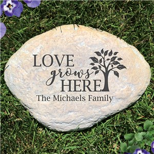 Love Grows Here Engraved Garden Stone L1250414P