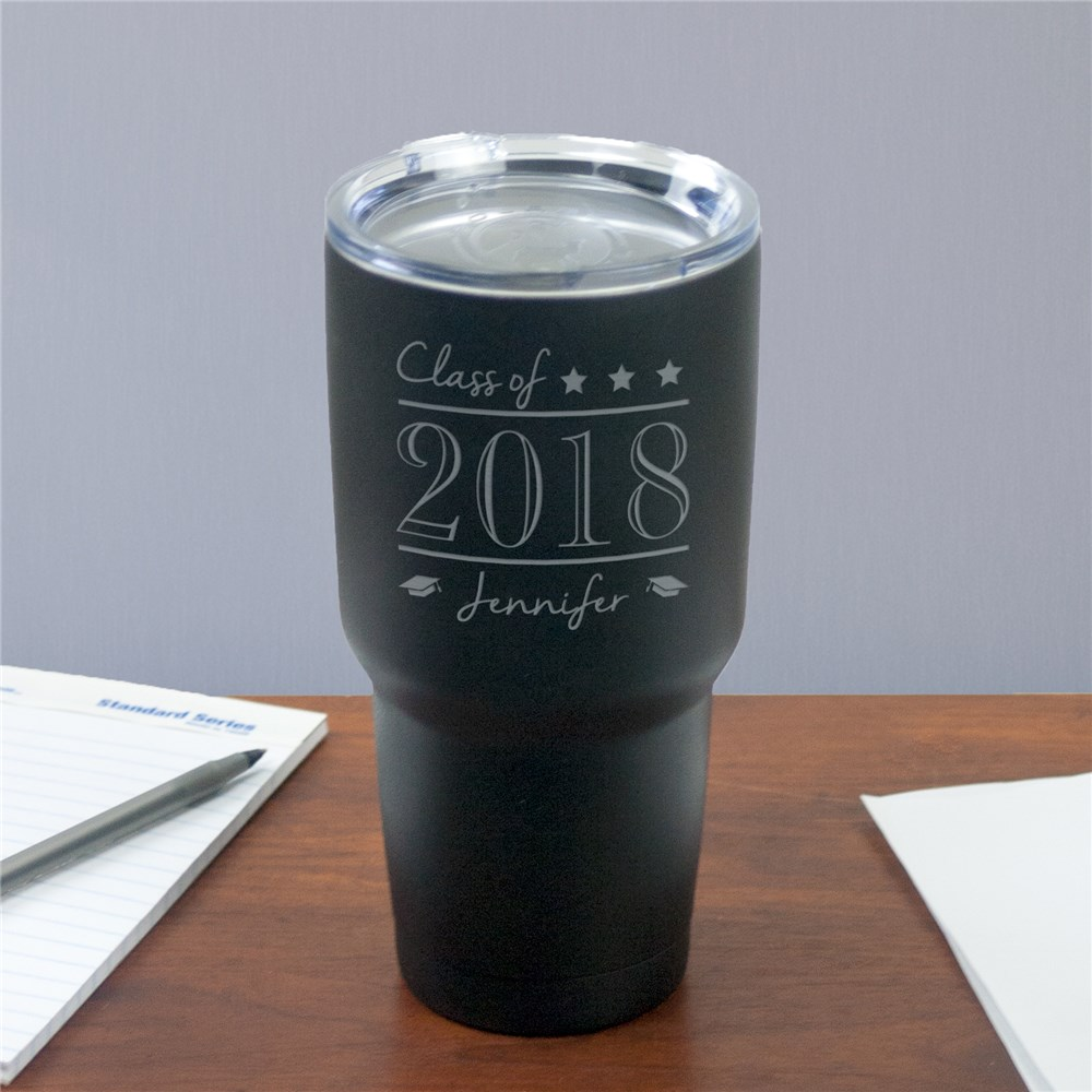 Engraved Class Of Tumbler | Personalized Graduation Gifts
