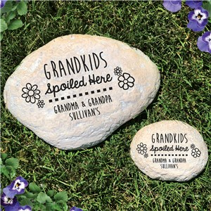 Spoiled Here Personalized Garden Stone | Personalized Garden Stones