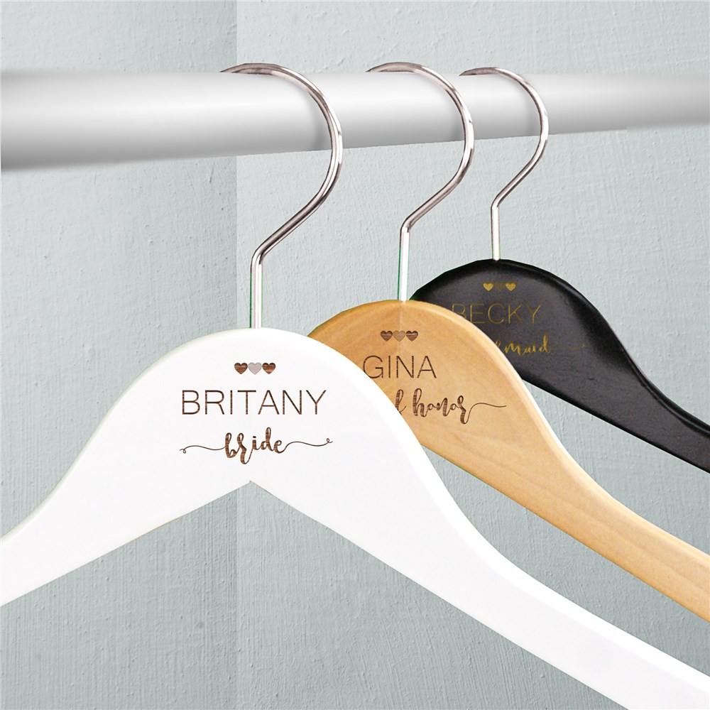 Engraved Wedding Party Hangers | Personalized Hangers For Bridesmaids