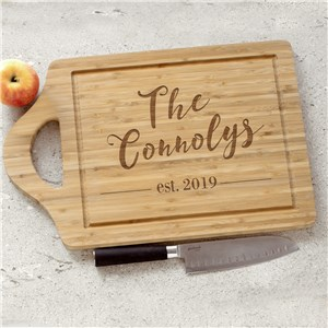 Engraved Established Cutting Board | Engraved Cutting Board